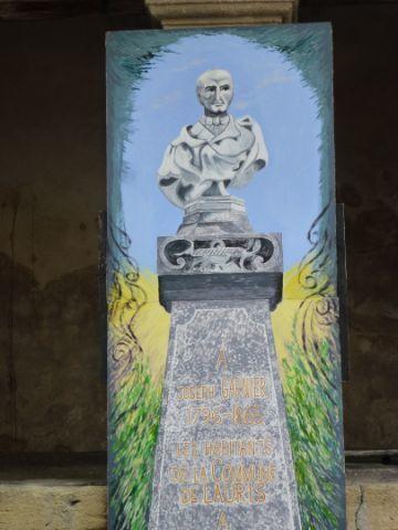 La statue de Joseph Garnier ( 1 avril 1996)