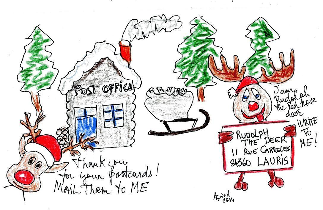 Rudolph vous souhaite un joyeux Noël