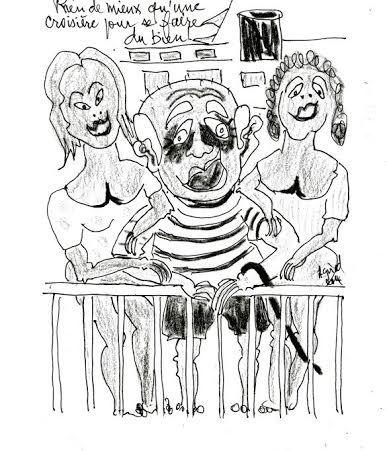 Quelques dessins humoristiques que l'on trouve dans le livre d'André Girod