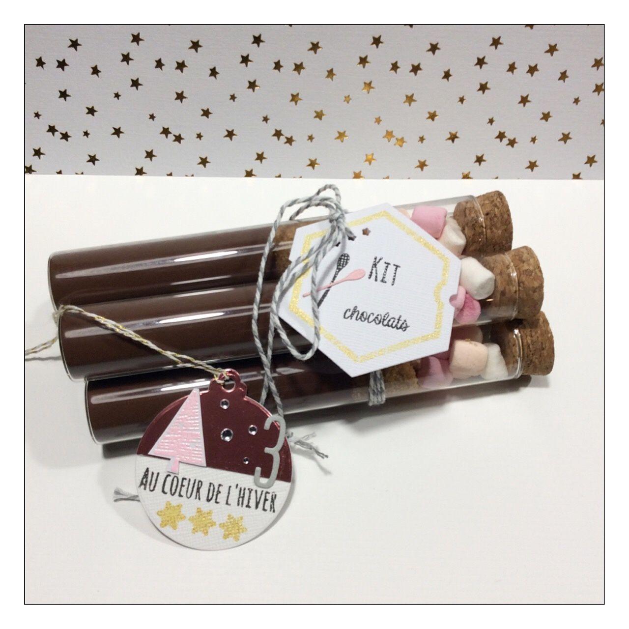 Un kit chocolat,des débarbouillettes hihi et des decoupes bois.
