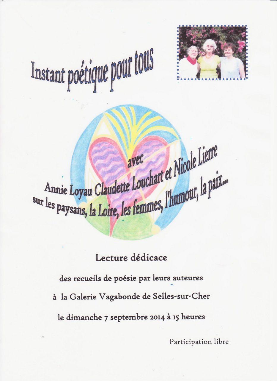 Démarche caritative, peintures de Marianne Godard et poésie à la Galerie Vagabonde