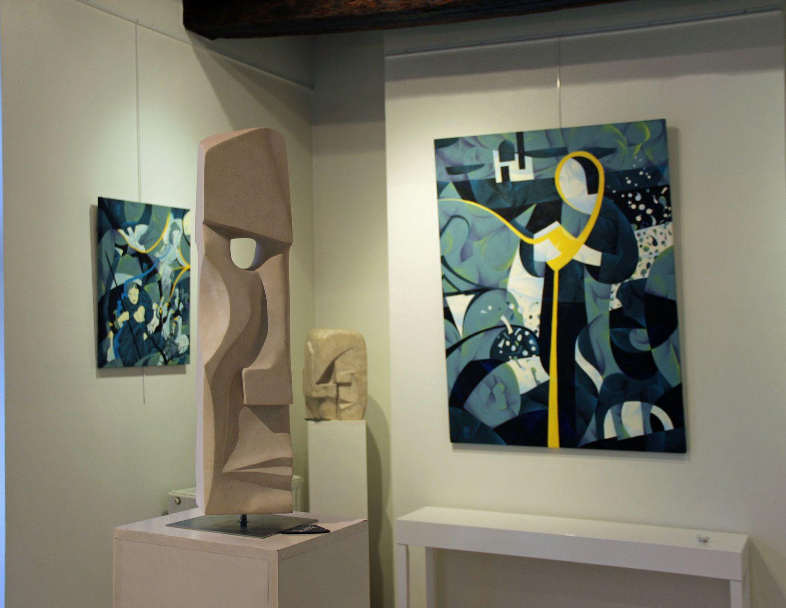 Sculptures de philippe JACQUET et peintures de Yannick MOURE
