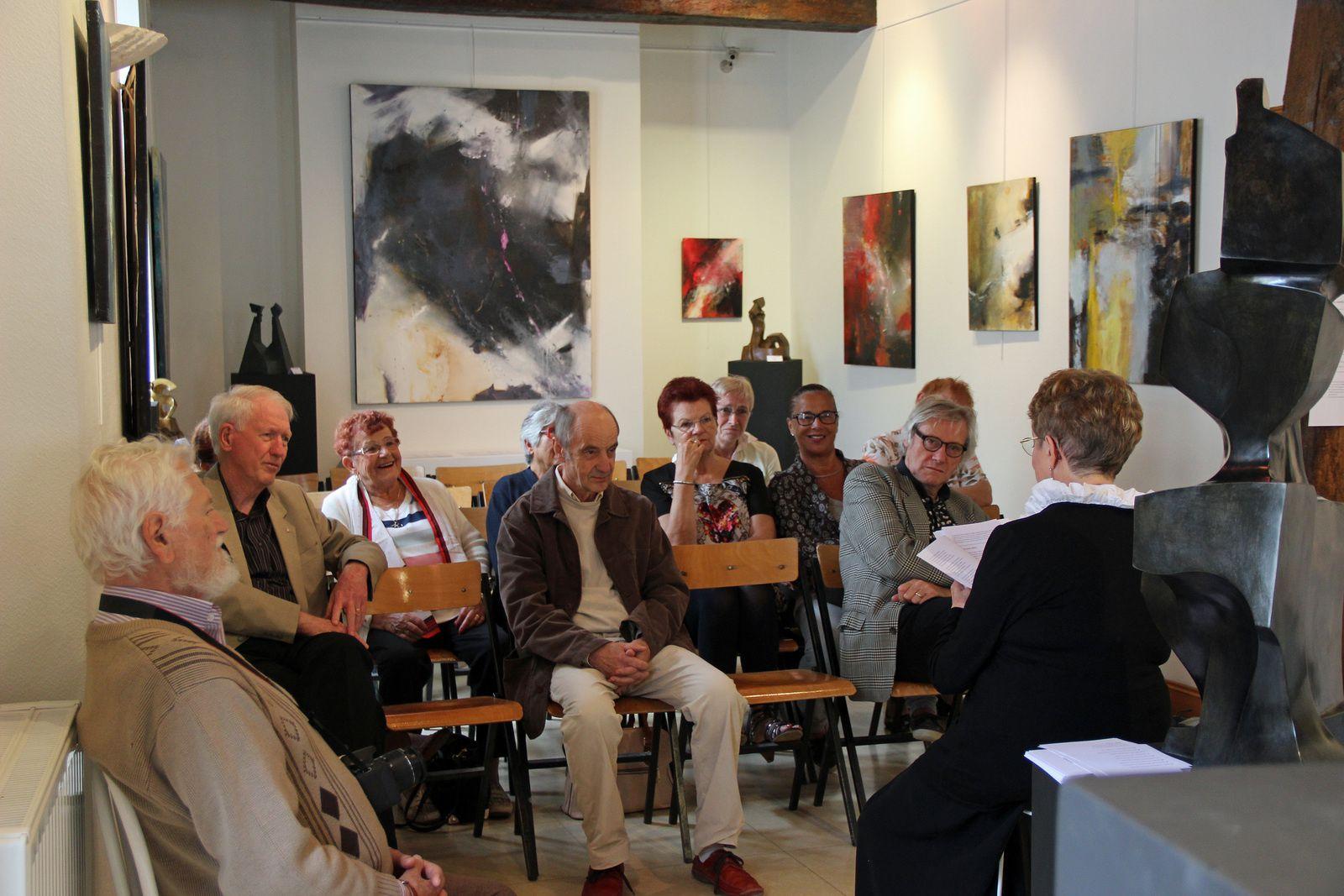 Dimanche 13 septembre 2015 poésie a la Galerie Vagabonde par Janine FIESEN