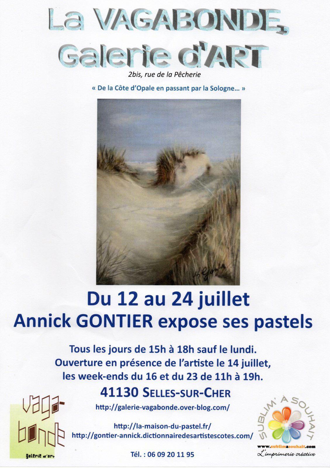 Annick Gontier, peintre pastelliste à la Vagabonde du 12 au 24 juillet