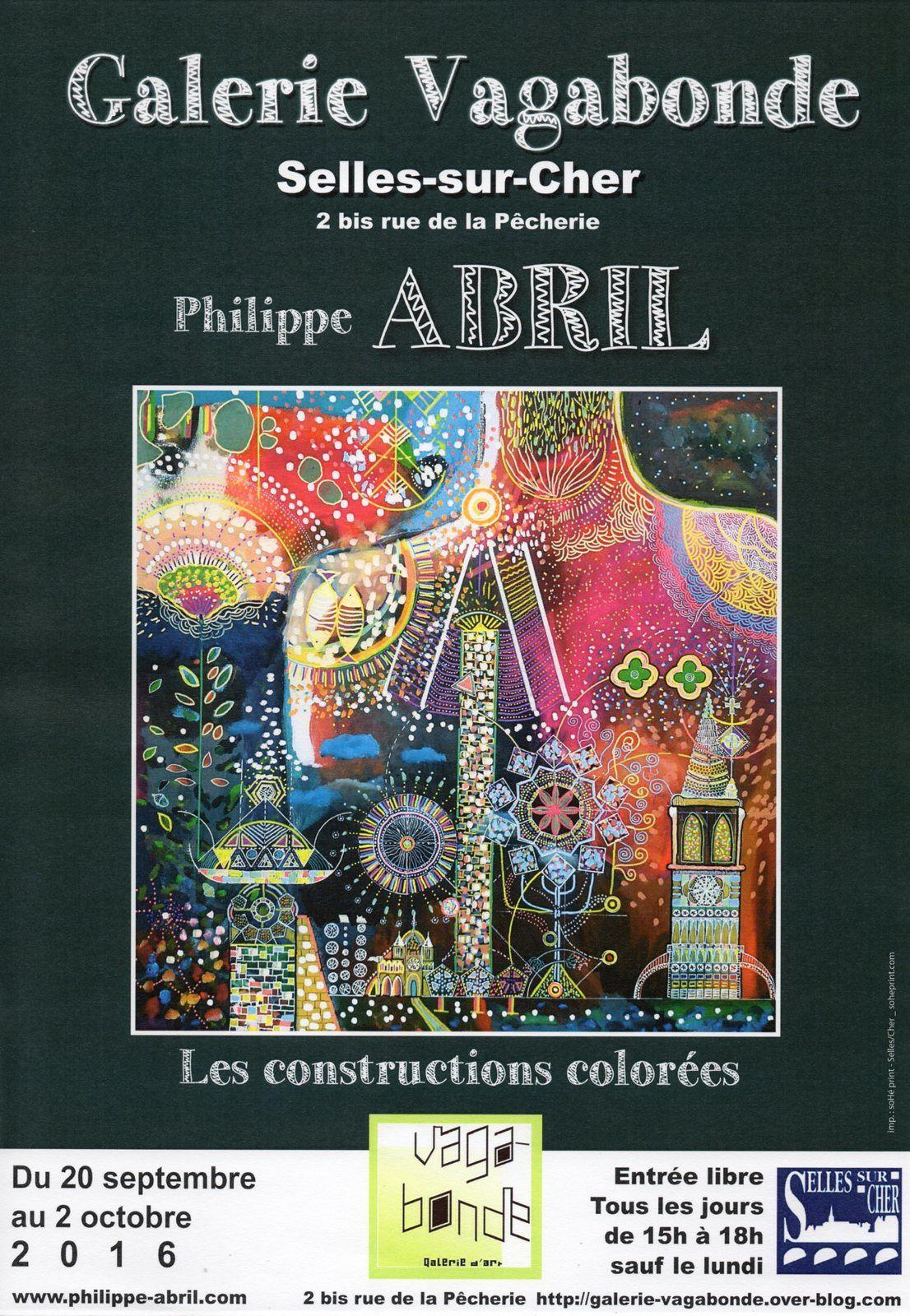PHILIPPE ABRIL expose du 20 septembre au 02 octobre