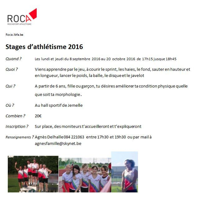 Stage d'initiation 2016