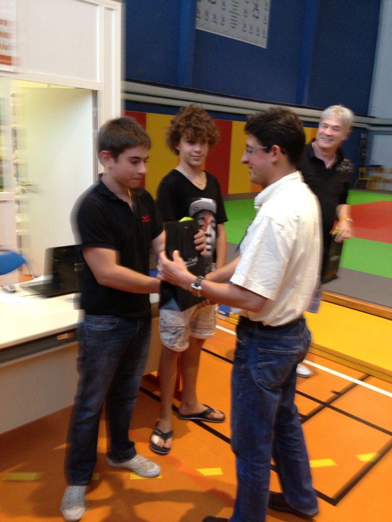 Bastien et Raphaël gagnants du challenge MAZDA en minimes garçons