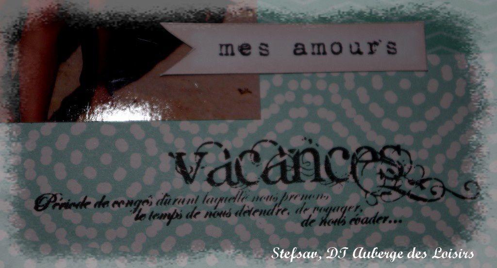 Mini-album &quot&#x3B;Moments capturés&quot&#x3B; {DT Auberge des Loisirs}
