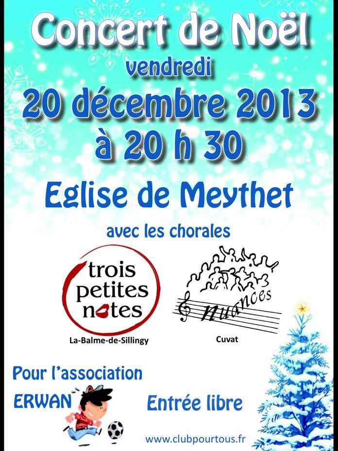 CONCERT DE LA CHORALE TROIS PETITES NOTES / NUANCE  20/12/2013