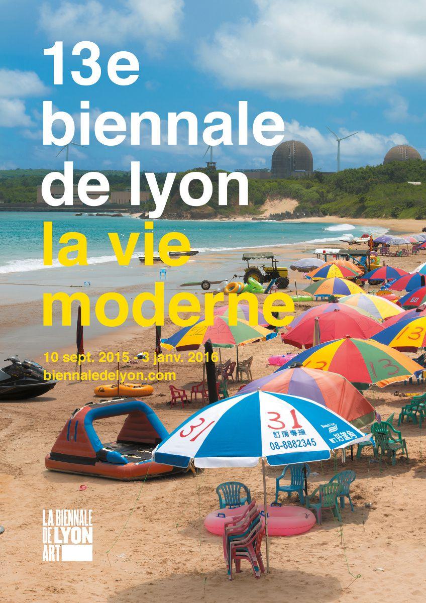 Affiche de la Biennale d'art contemporain de Lyon 2015. Oeuvre de Yuan Goang-Ming, Landscape of Energy – Stilness, 2014. Courtsey of the artist