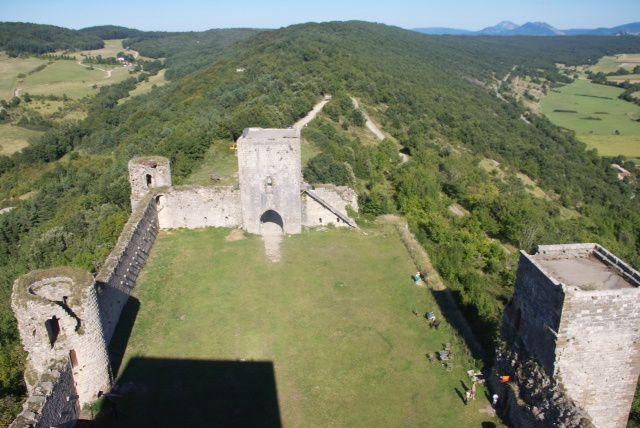 Retour au château de Puivert