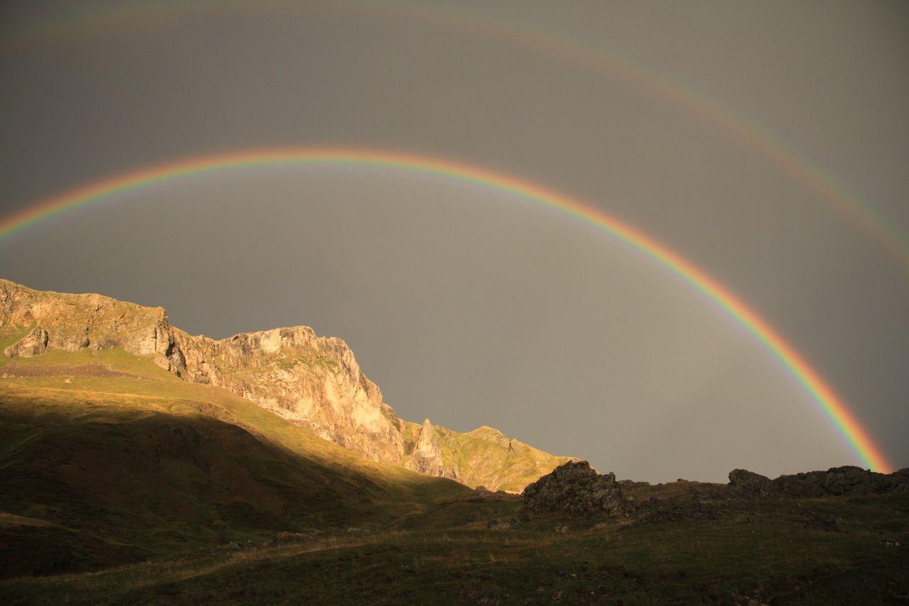 Double arc-en-ciel au col du Pourtalet
