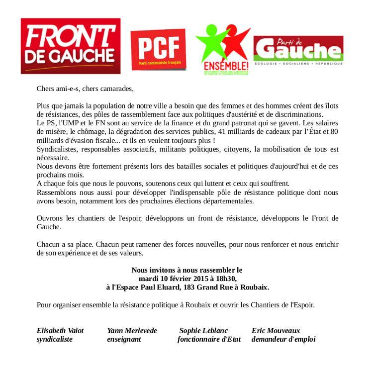 Élections départementales: Canton de Roubaix1