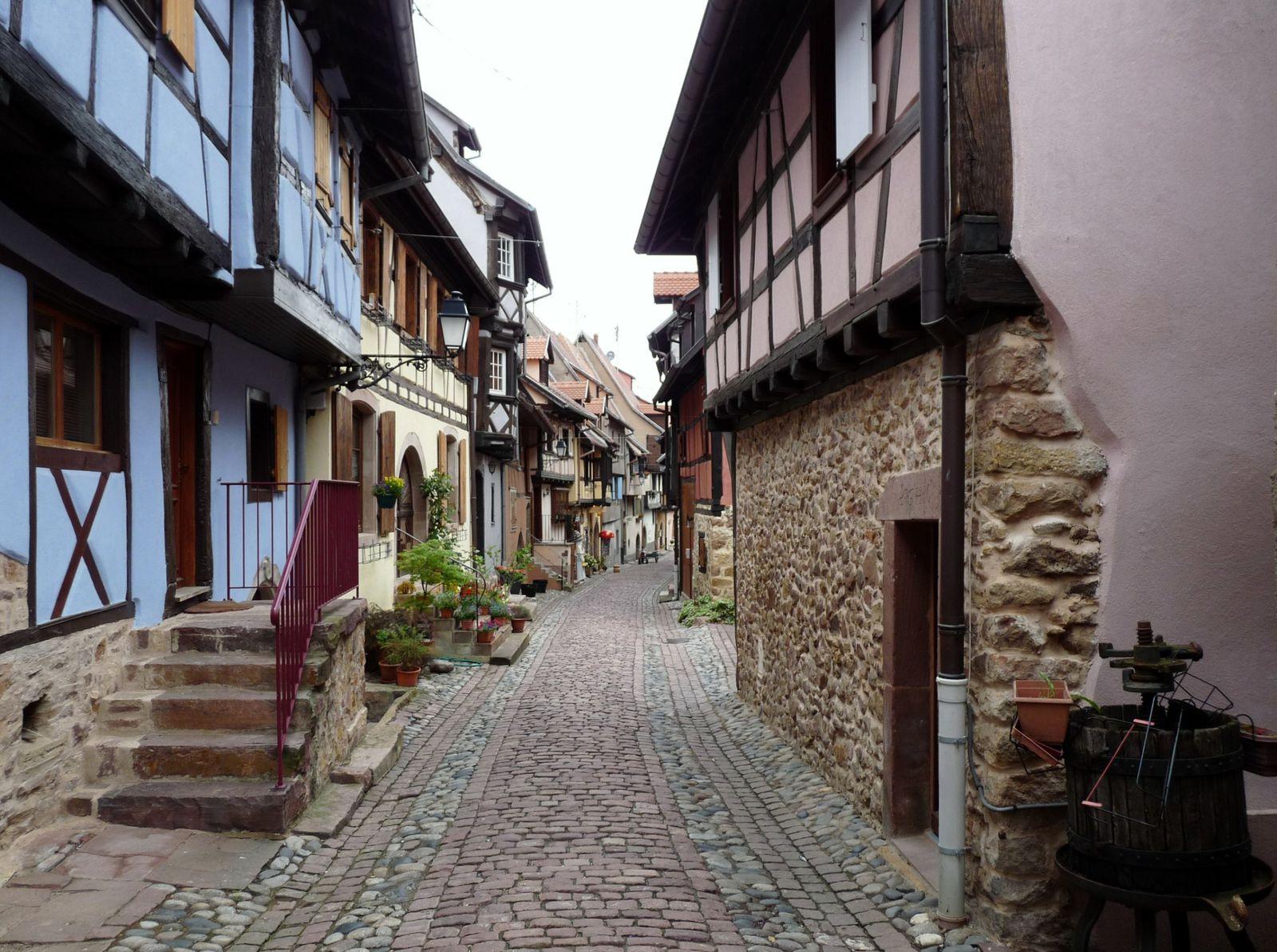 Sur la Route des Vins d' Alsace -  VVF Obernai - Ottrott - Barr - Le Mont Saint Odile - Selestat - Ribeauvillé - Riquewhir - Eguisheim - Colmar - Strasbourg - Château du Haut Koenigsbourg.