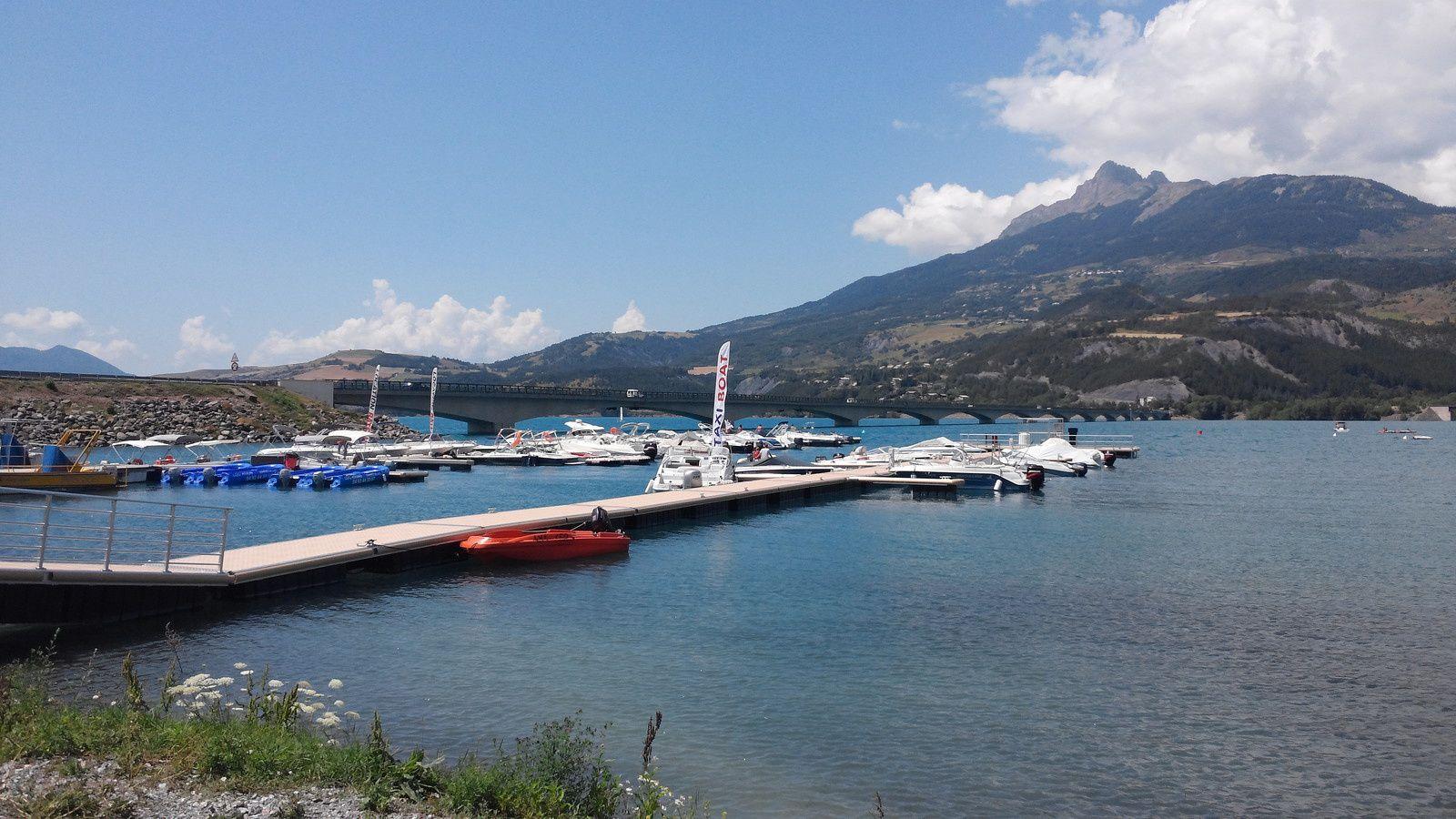 Lac de Serre-Ponçon - Savines le Lac - Embrun - Barrage EDF