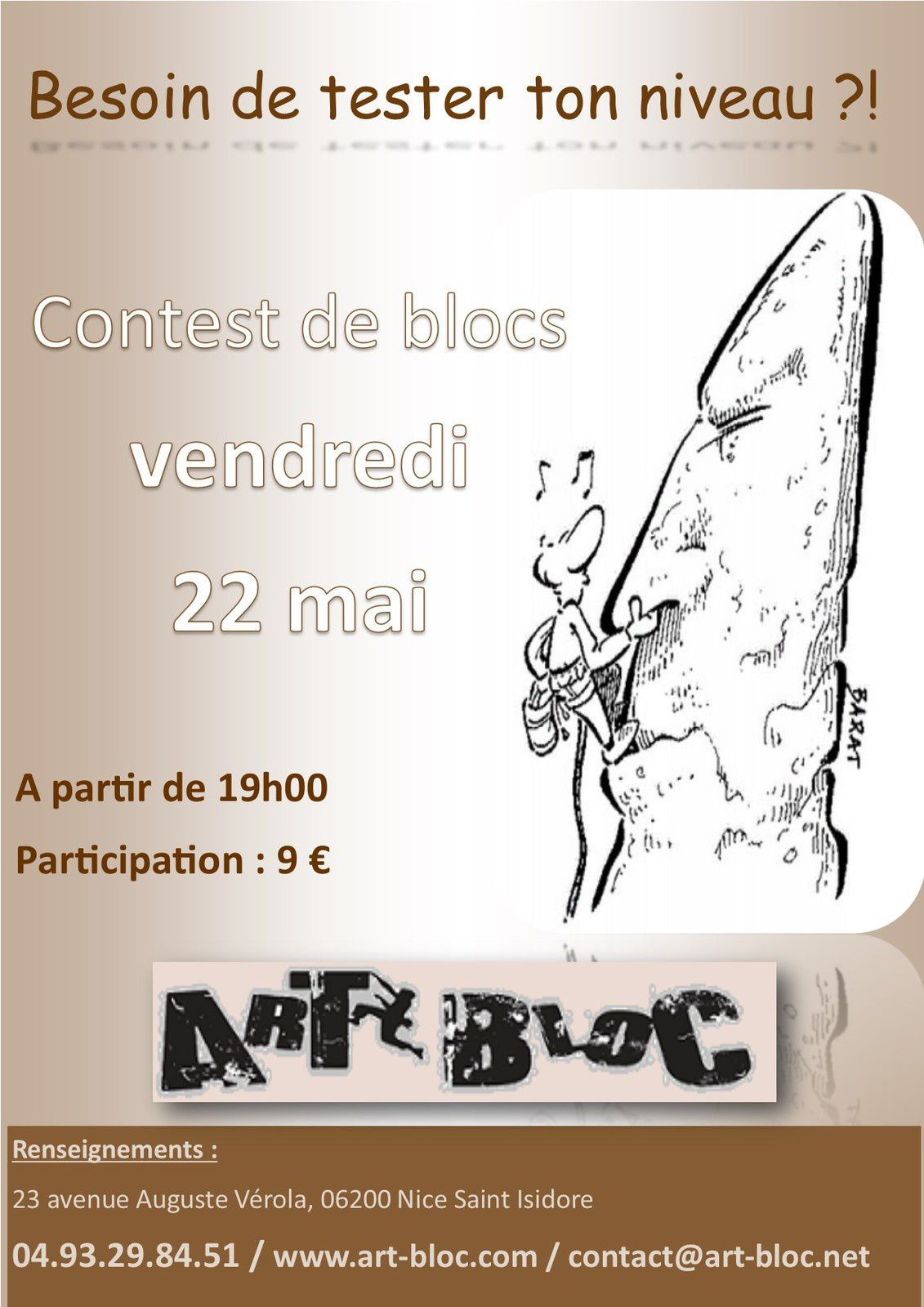 Vendredi 22 Mai 2015 à 19h CONTEST de BLOCS
