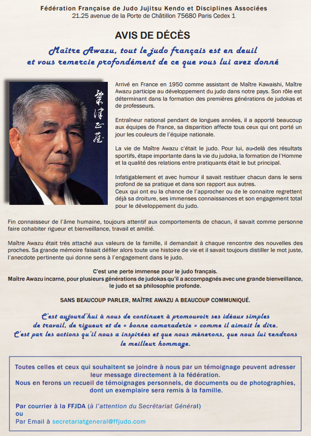 Disparition de Maitre Awazu