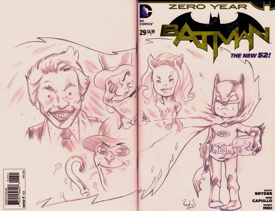 Blank Cover Batman vintage TV Show *** VENDU***