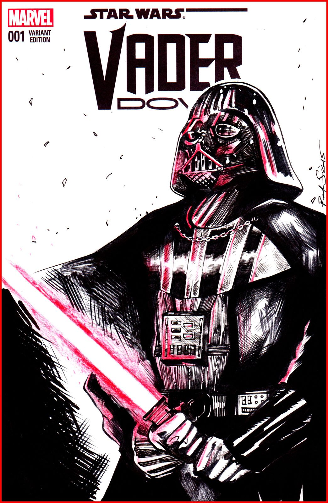 Nouvelle Blank Cover Darth Vader !