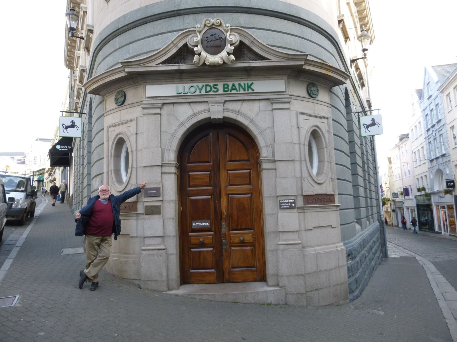 Boulangerie Victor Hugo, Sir René the Lloyds Manager, the Pollet Street at St Peter