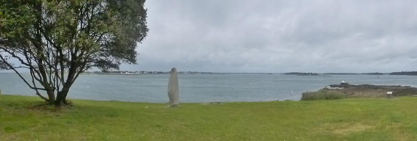 Borne N° 1 - la Vierge de Bilgroix- étroitesse du chemin (voir explications)