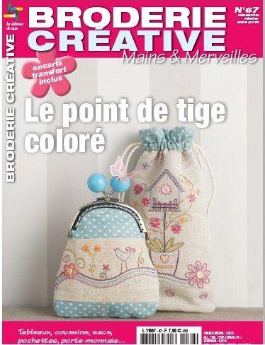 Broderie Créative 67 - Le point de tige coloré