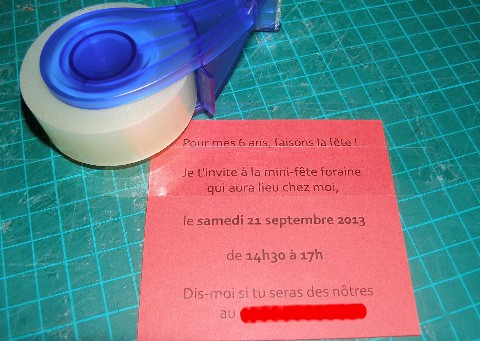 Invitation à gratter DIY