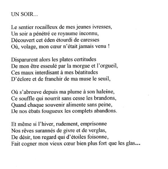 POESIES 1er accessit &quot&#x3B; Yves MUR&quot&#x3B;