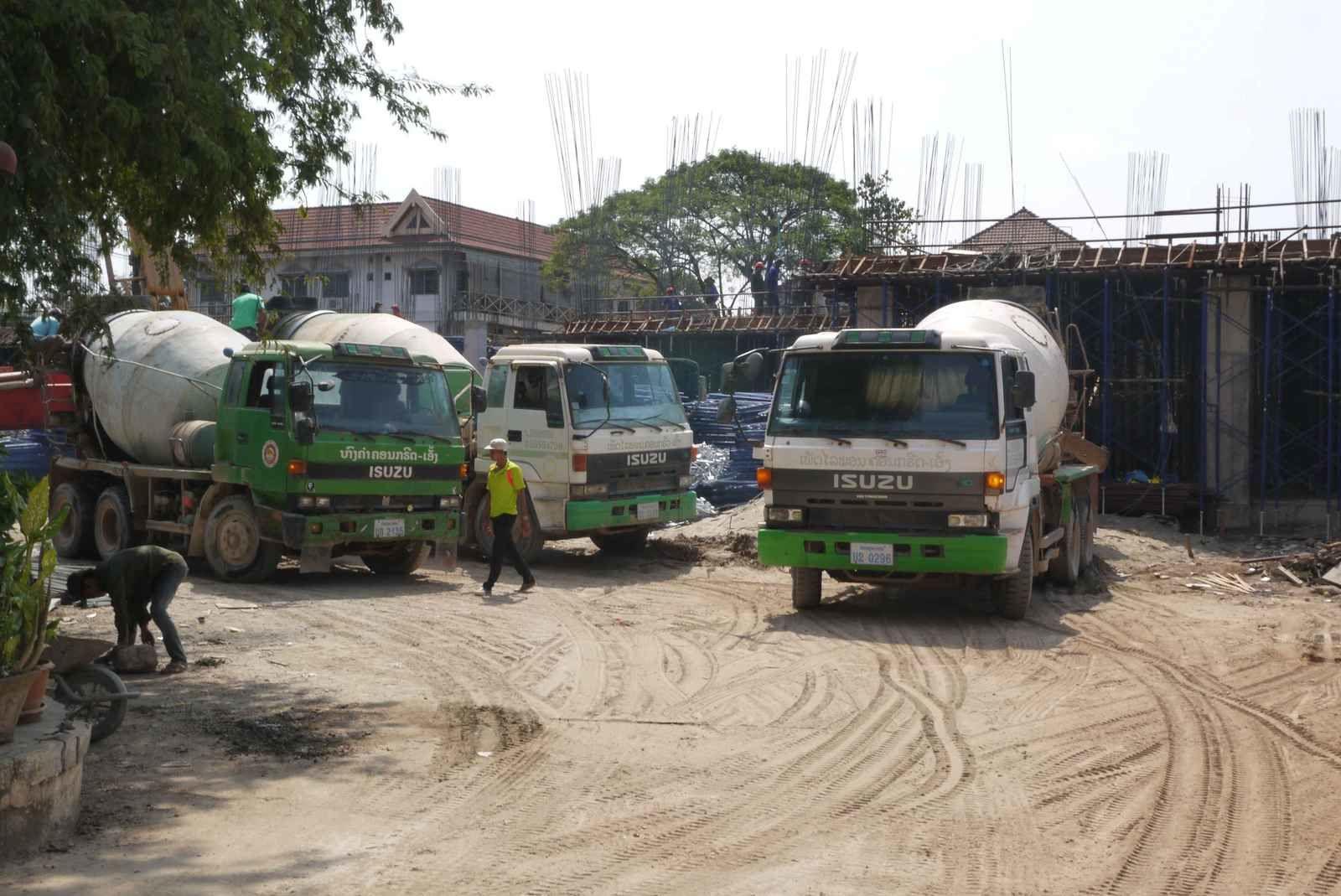 Des camions bétonnières pour « Loulou »