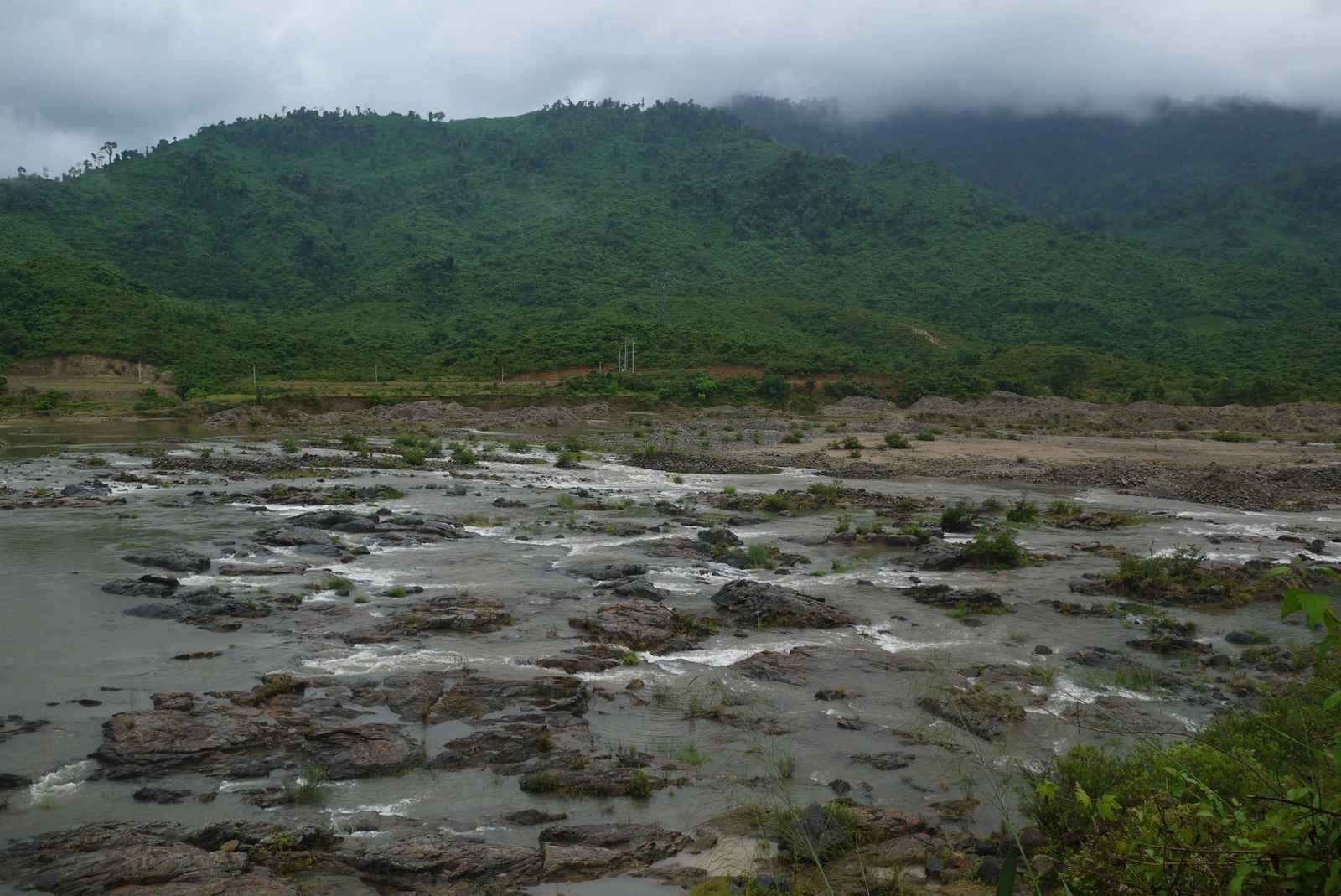La pluie a grossi les rivières