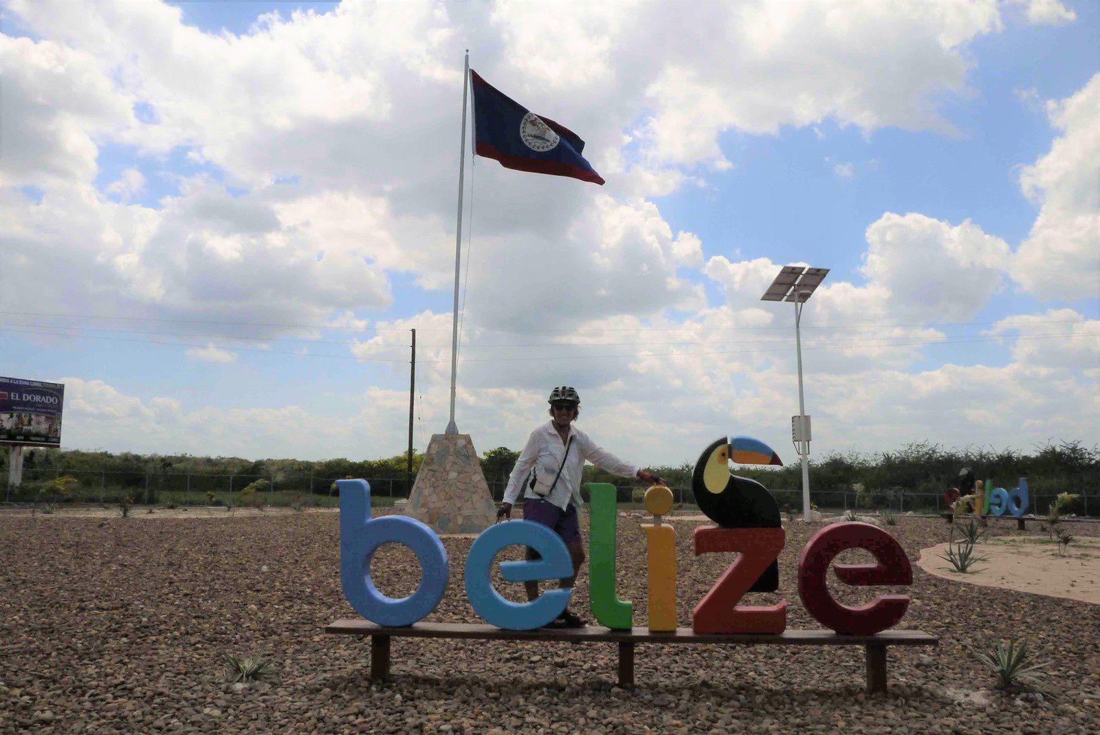 On quitte le Belize avant d'entrer au Mexique
