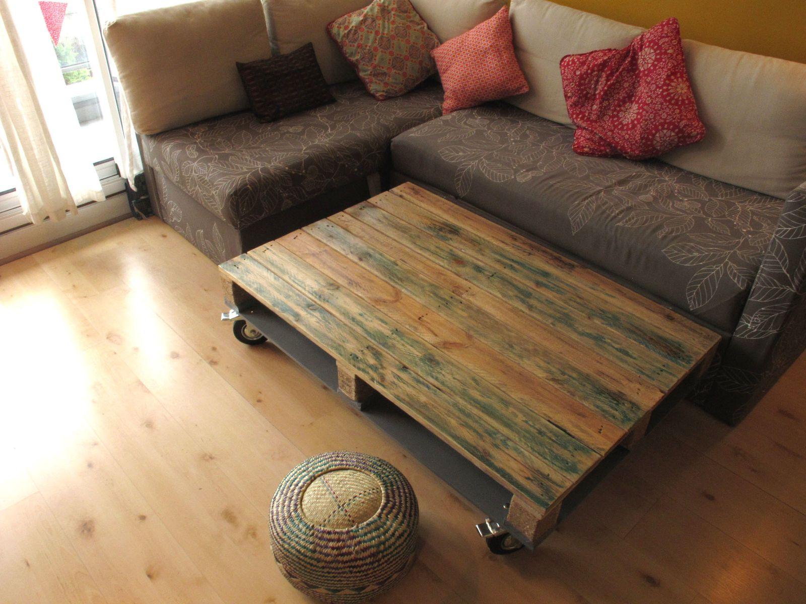 Nos dernières créations de tables basses palette à roulettes, déco et recyclée