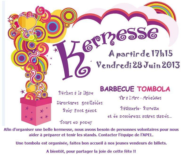 ANNONCE KERMESSE 2013