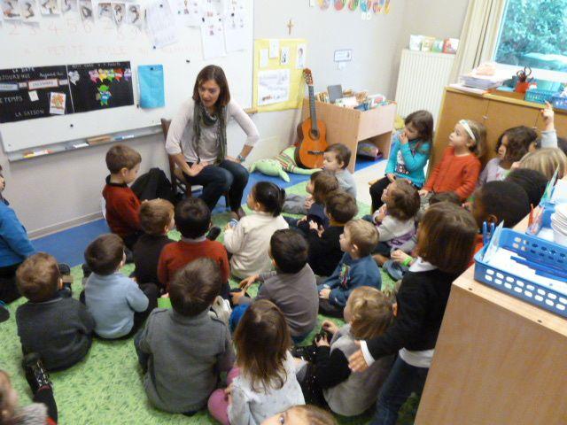 Saint Nicolas à l'école maternelle décembre 2013