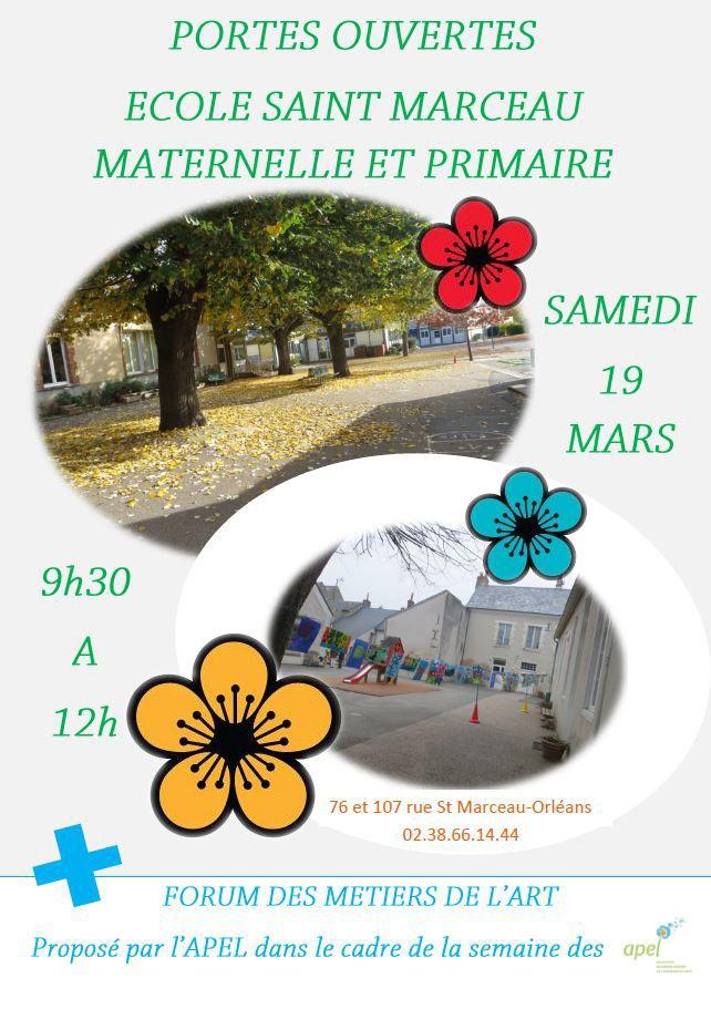 Portes Ouvertes Ecole St Marceau 2016