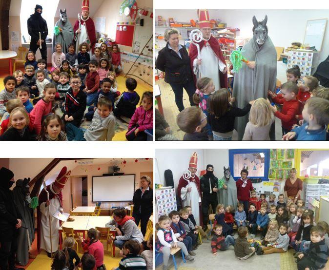 Saint Nicolas à l'école St Marceau  6.12.16