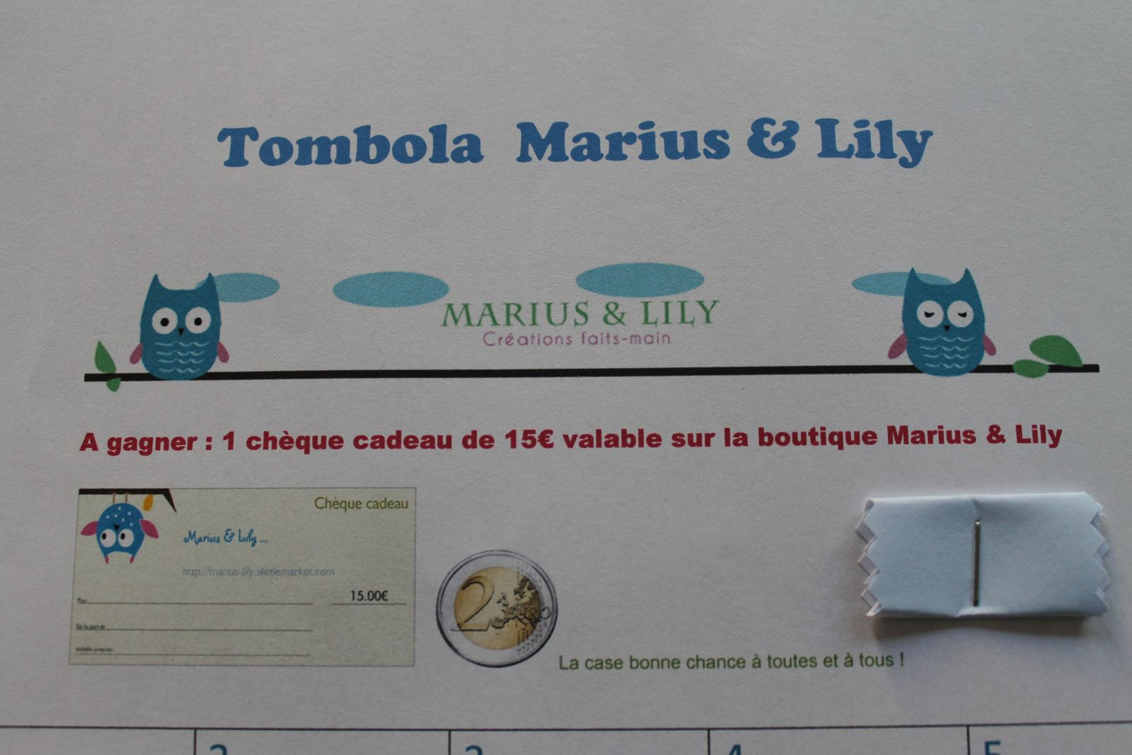 Tombola Marius &amp&#x3B; Lily