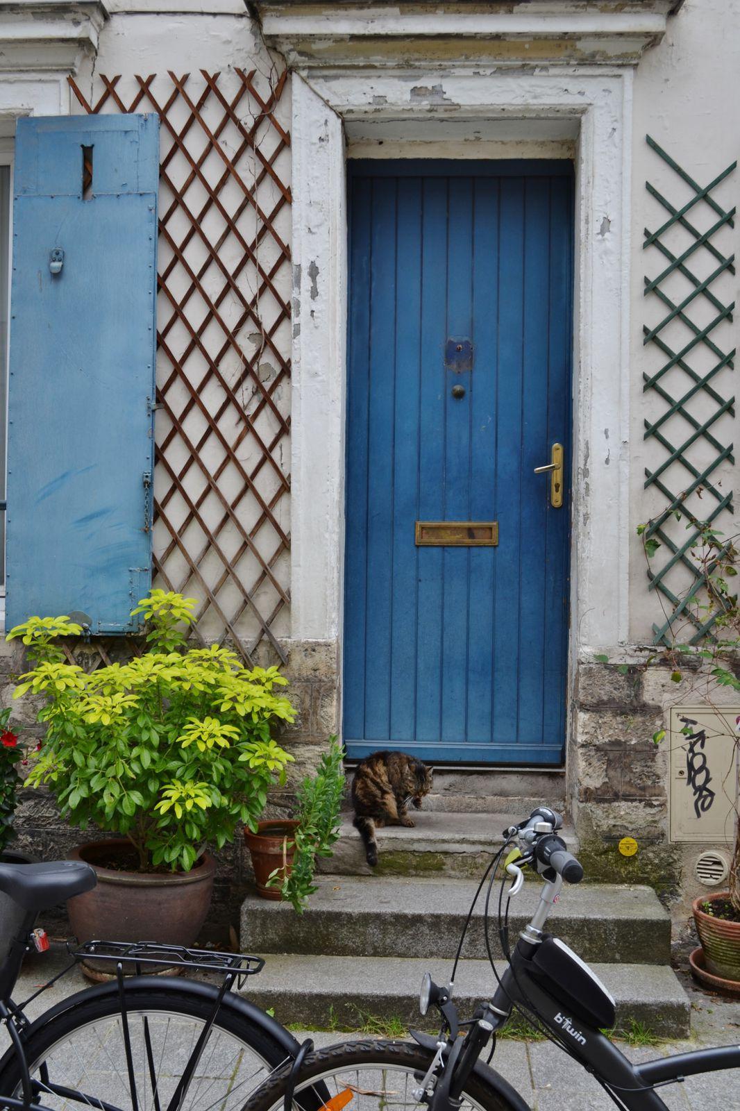Mon coup de coeur. Je ne savais plus donner de la tête tellement  ces petites maisons sont magnifiques. Petit paradis au coeur de Paris.