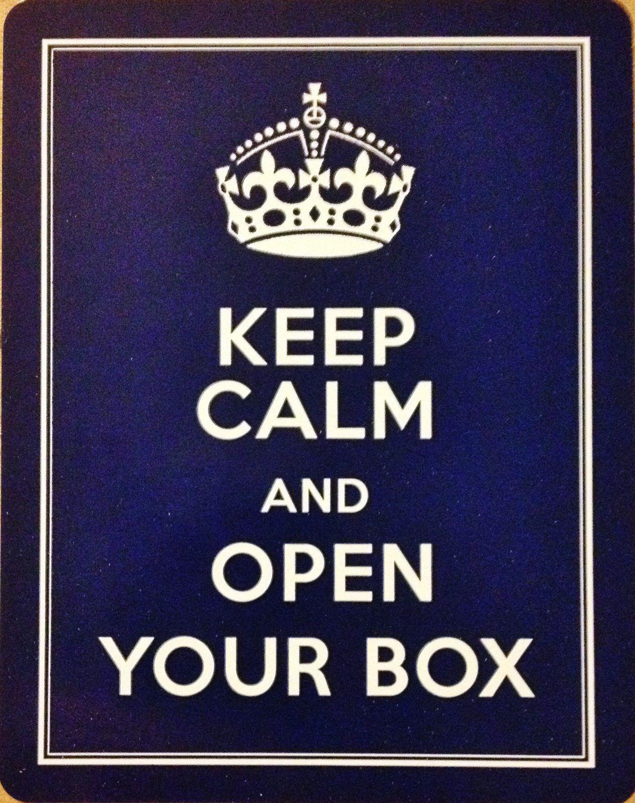 Keep calm? No way. I'm so excited..