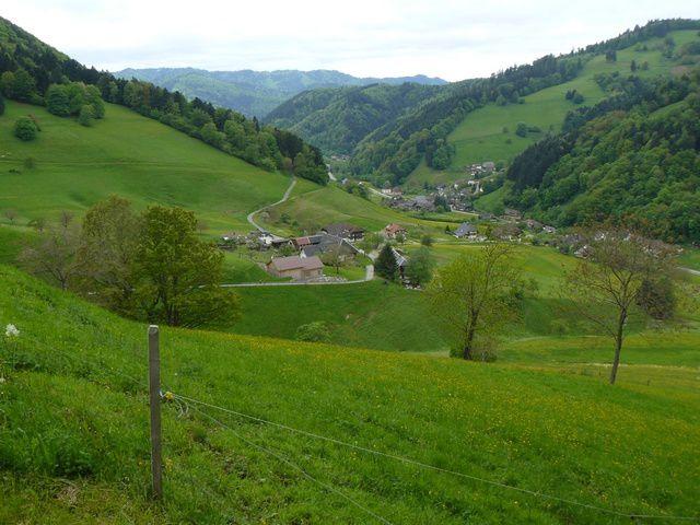 Les vues sur la vallée sont magnifiques
