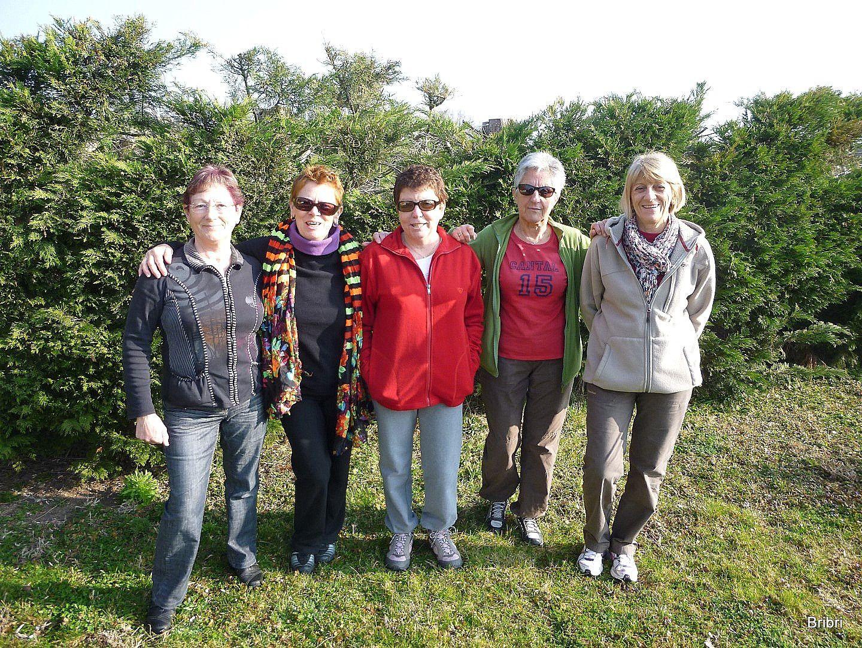 L'équipe de ce jour: Brigitte, Josiane, Dany, Denise, Annie.