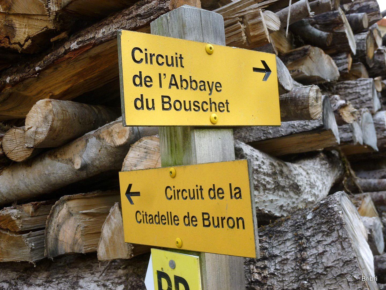 Buron :  2 circuits, nous n'allons pas à la citadelle. Belle boite aux lettres originale.