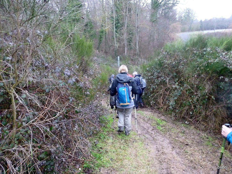 Passage très délicat car hyper glissant, Jean Michel et le GO nous aident à le passer.