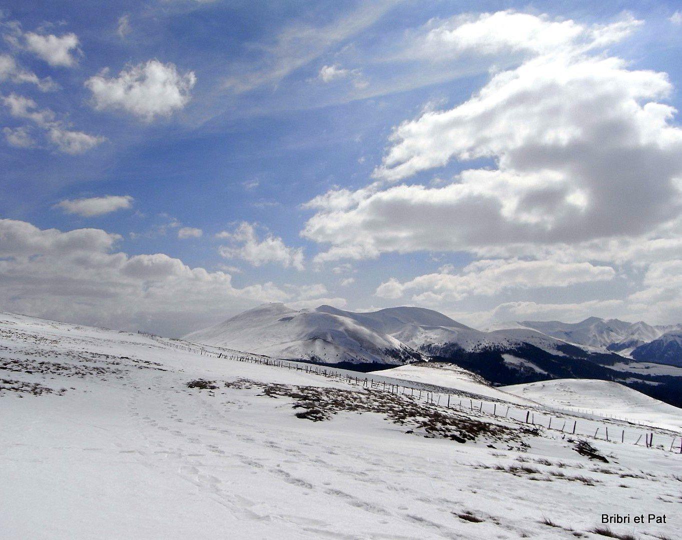 C'est beau l'Auvergne en hiver.