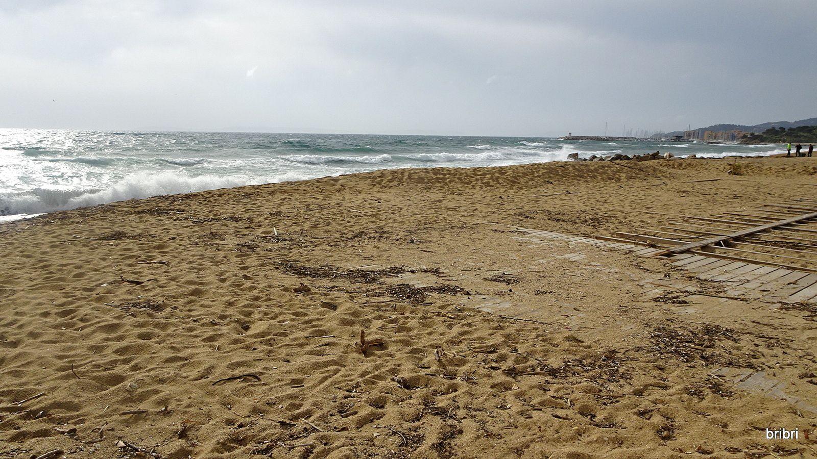 Nous avons vu la mer sous tous ses aspects, d'huile, légèrement en colère et déchaînée.