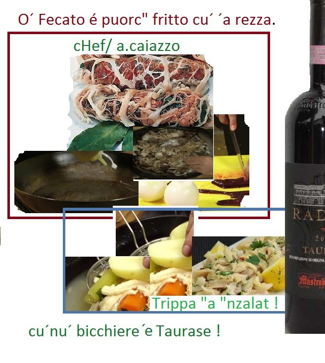 O´ Fecato é puorc&quot&#x3B; fritto cu´ ´a rezza. Fried liver whit the peritoneum.