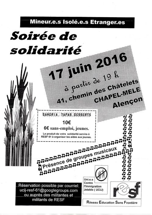 RESF  : Soirée de solidarité Alençon