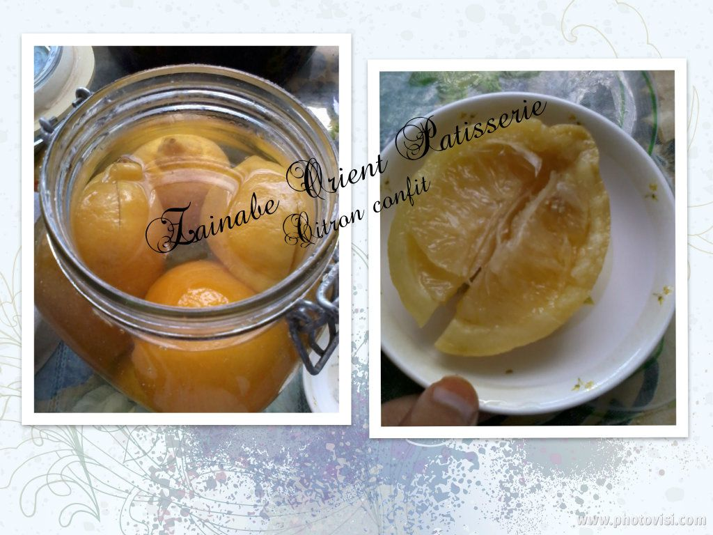 Citron confit made in Morocco