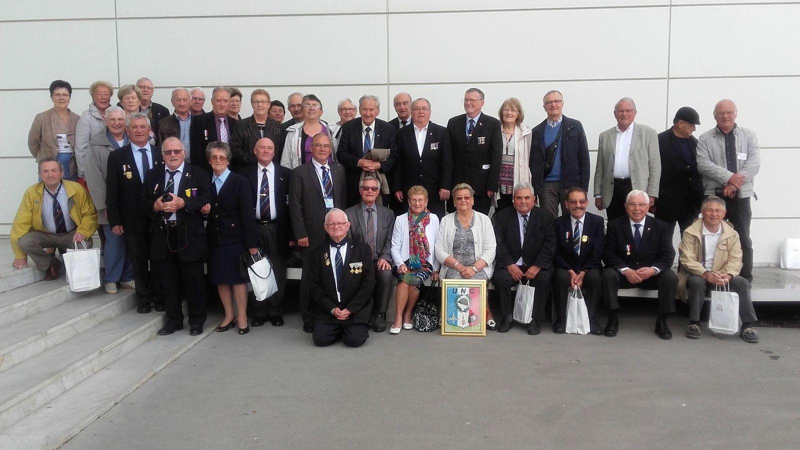 Congrès de Bordeaux, la photo du groupe de l'UNC d'Ille-et-Vilaine
