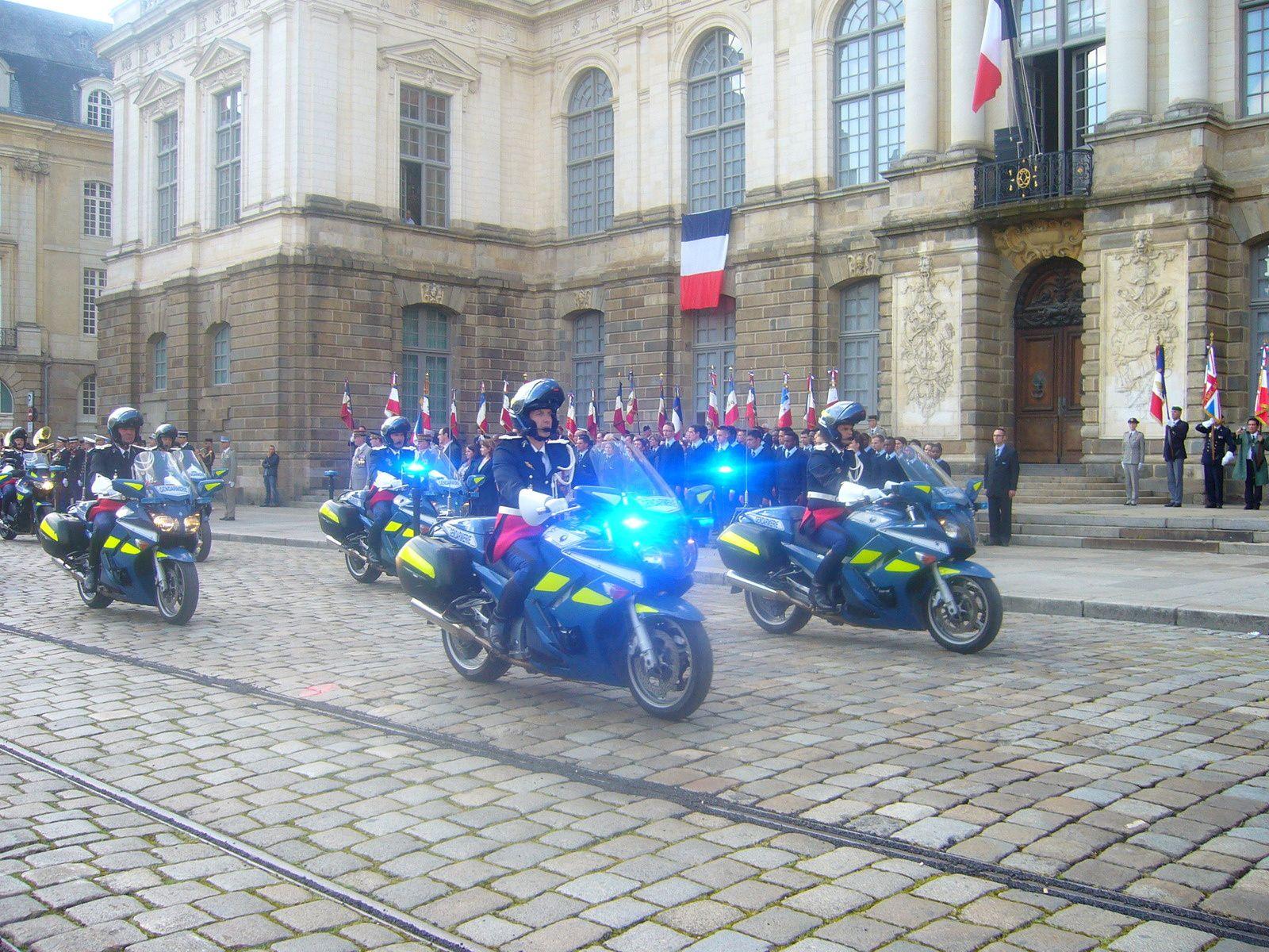 Cérémonie du 14 juillet à Rennes